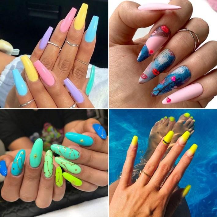 Summer Acrylic Nail Designs and Ideas