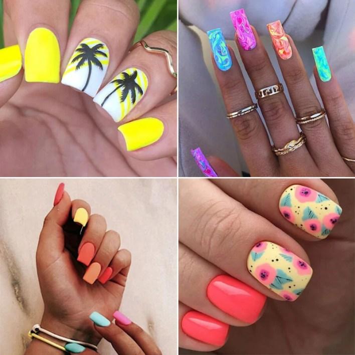 Summer Square Nails