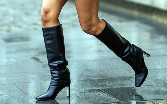 Leather Knee High Boots Outfit