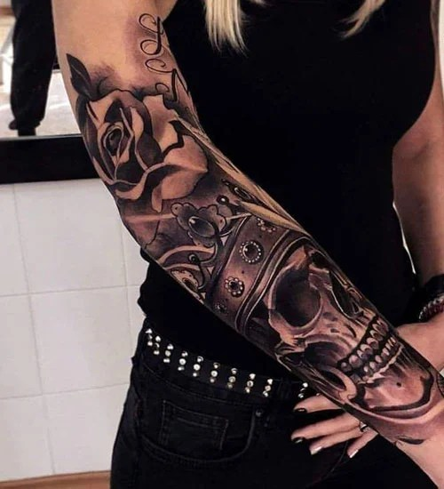 Cover Up Tattoo on Forearm For Women