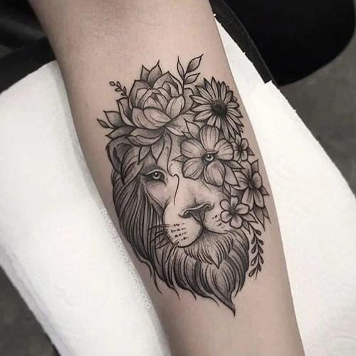 Cute Lion Forearm Tattoo