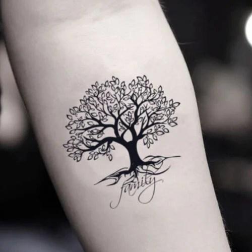 Family Tree Forearm Tattoo