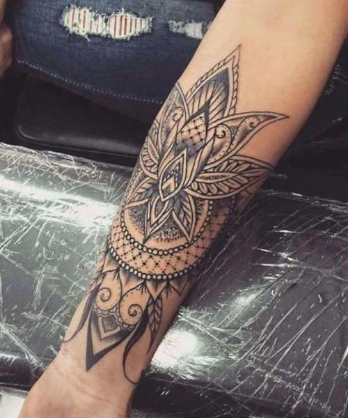 Mandala Tattoo For Forearm