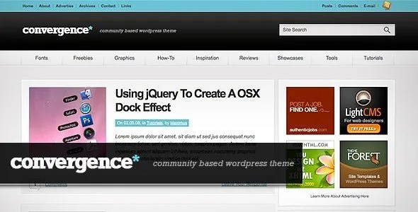 Convergence - Neat Community WordPress Theme You Are Going to Love - Blogging