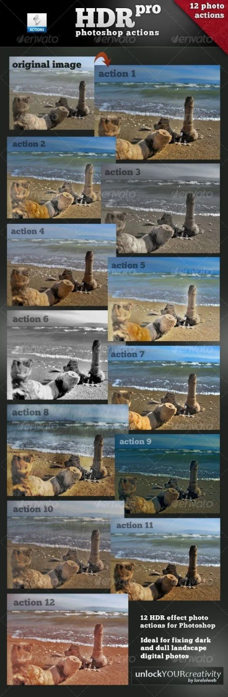 Download Professional HDR Photoshop Actions - Web Design