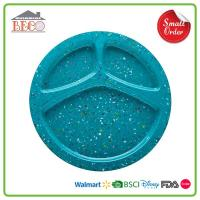 Melamine Plastic Divided Dinner Plates for Adult and