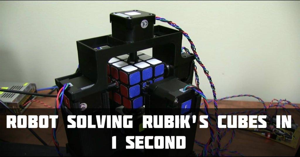 rubik cube in 1 second