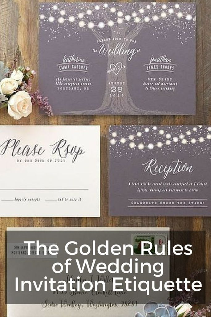 The Golden Rules of Wedding Invitation Etiquette Wording
