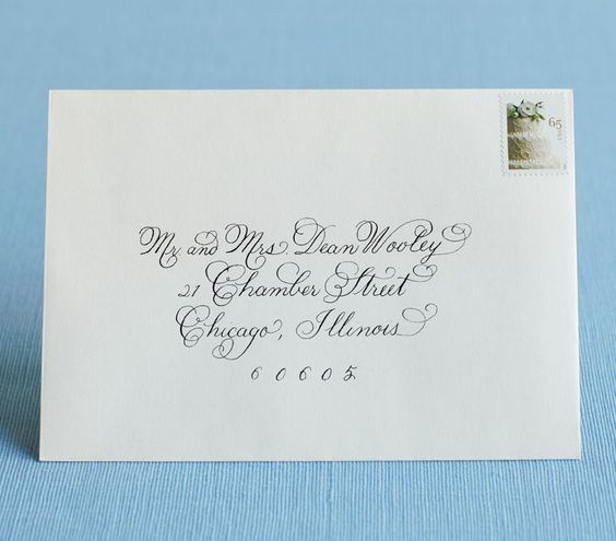 Team Wedding Blog Addressing Wedding Invitations and Envelopes