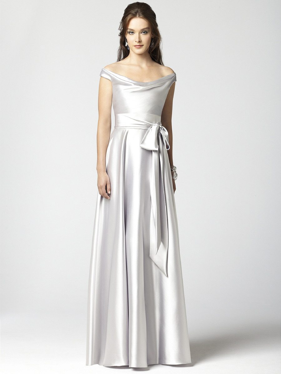Colorful Wedding & Bridesmaid Gowns: Silver Inspiration