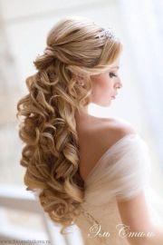 bridal hair wear curls