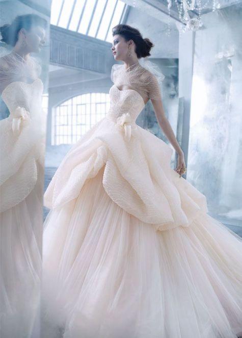 Peach Wedding Gown