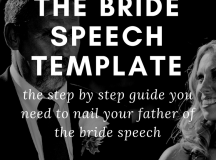 FATHER OF THE BRIDE SPEECH TEMPLATE | Wedding Speeches and ...