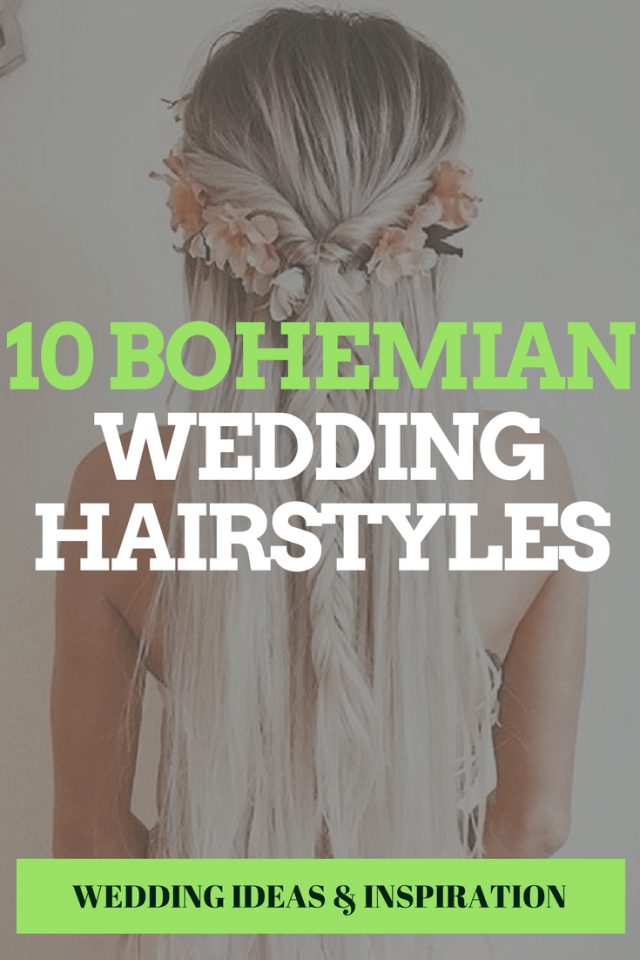 10 bohemian wedding hairstyles / example photos