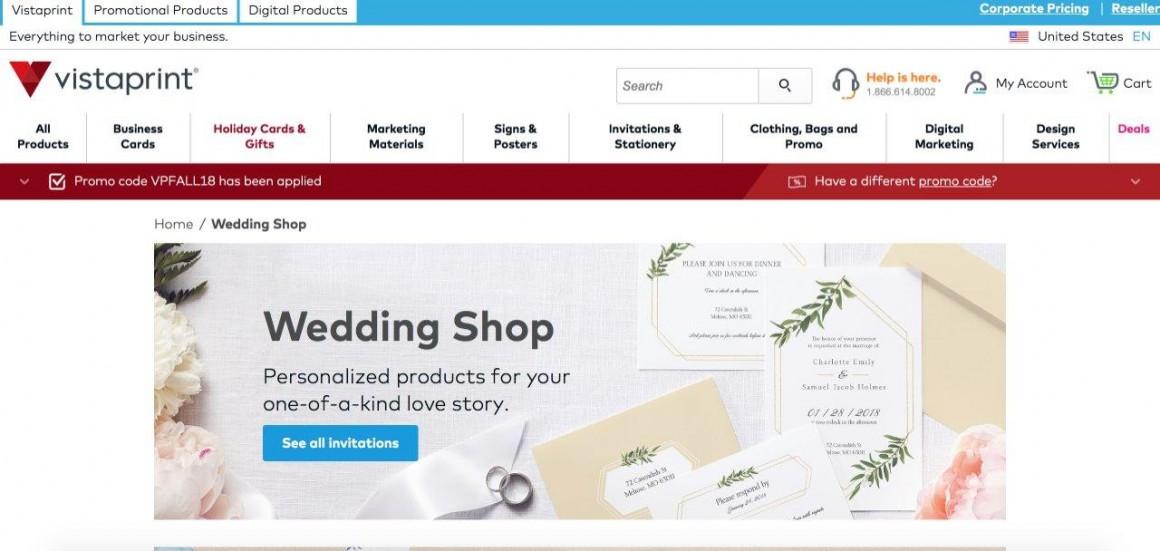 vistaprint wedding invitations hands