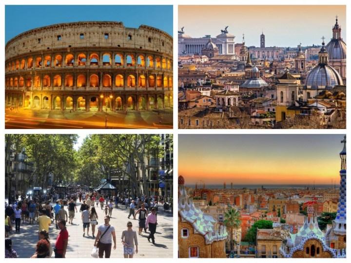 Stedentrip Barcelona Rome combinatie