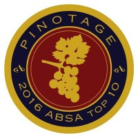Absa Top 10 Pinotage 2016 (bottle sticker, smaller)