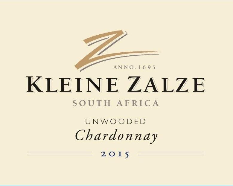 Kleine Zalze Cellar Selection Unwooded Chardonnay 2015