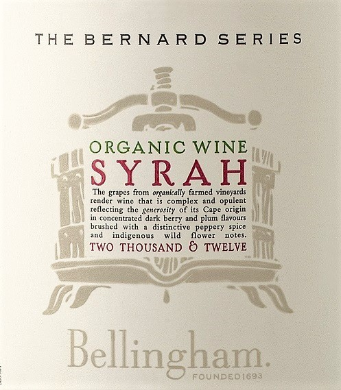 Bellingham The Bernard Series Organic Syrah 2012