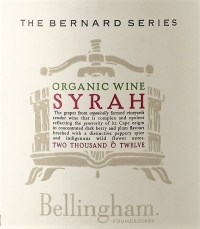 Bellingham The Bernard Series Organic Syrah 2012