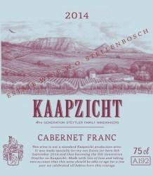 Kaapzicht Cabernet Franc 2014