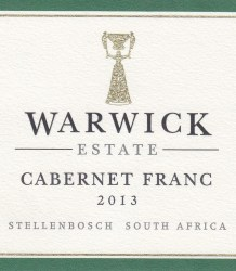 Warwick Cabernet Franc 2013