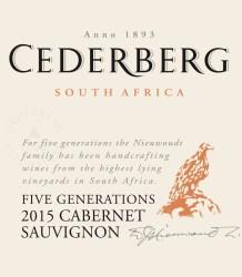 Cederberg Five Generations Cabernet Sauvignon 2015