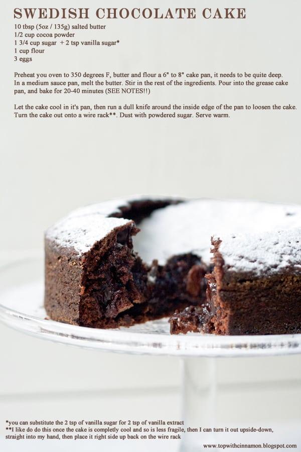 Izy Hossack Swedish Chocolate Cake