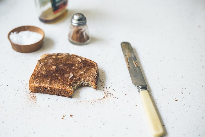 The French Toast: Pecan butter + Maple Syrup + Cinnamon + Maldon
