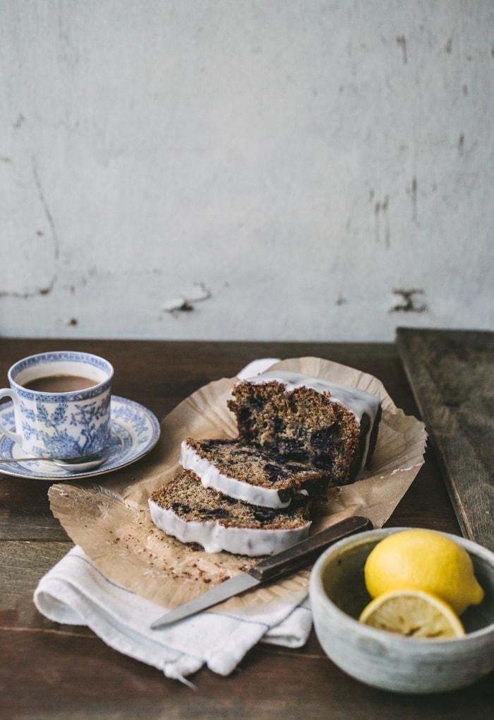 Earl Grey Tea, Blueberry and Lemon Cake