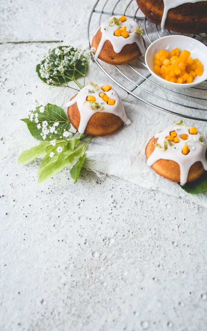 Elderflower, Lime and Mango Cakes 012