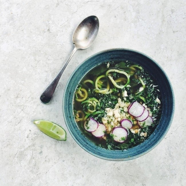 Vietnamese Pho with Courgette Spaghetti