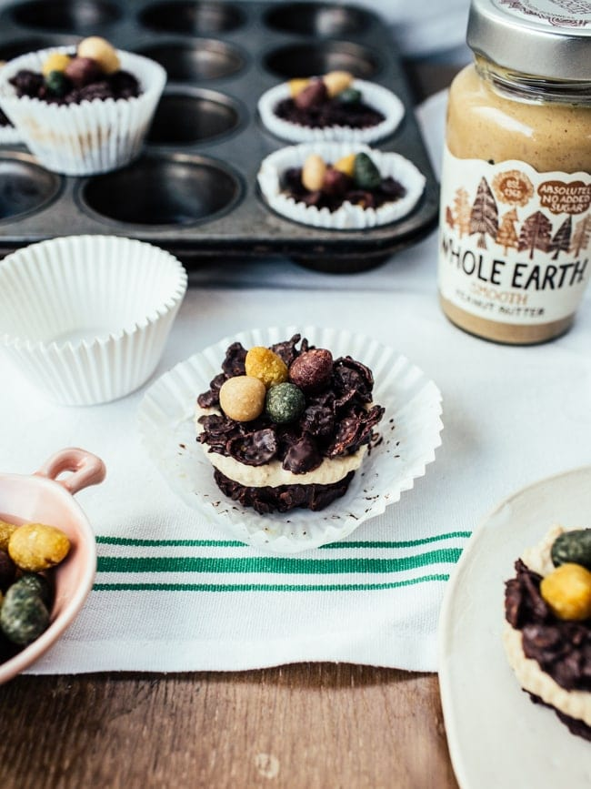 Chocolate Peanut Butter Cheesecakes
