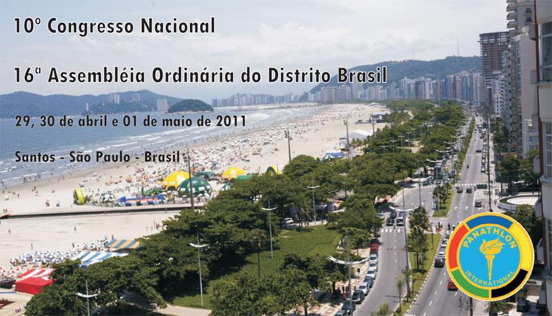 10° Congresso Nacional do Panathlon Club movimenta Santos