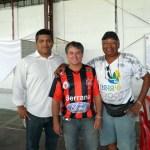 presidente Hudson Jesus,-ex-jogador e ex-presidente Gláuquer e o ex-jogador Baliza