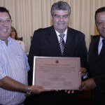 Júlio Gasparette, Áureo Fortuna e Pastor Carlos Bonifácio na homenagem