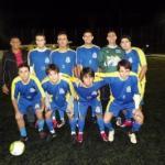 Em pé: Evandro Gomes (treinador), Thiago Patticié, Felicinho, Teo, Léo e Guto. Abaixados: Thiago Hill, Ramon, Rafael e Léo Lélis
