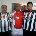 Henrique (e), Rondinelly e João Paulo (d)