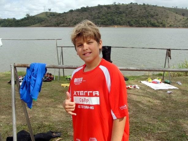 Matheus Martinez satisfeito com sua participação no XTerra (Foto: Toque de Bola)