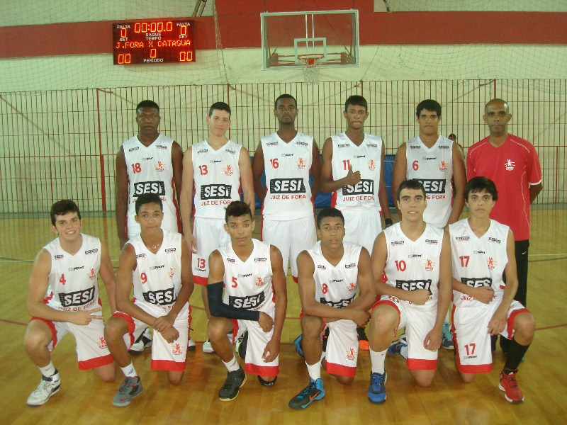 Equipe de basquete do Sesi Juiz de Fora na terceira edição dos Jogos Sesi Atleta do Futuro - Basquete