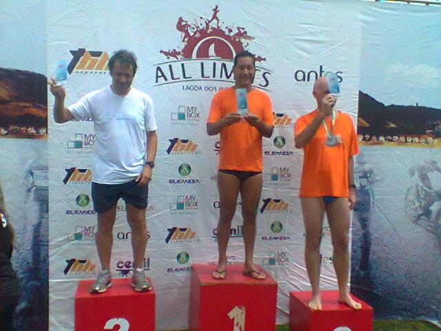 Pela natação, Romulo Marcelo Pinheiro foi o primeiro colocado na travessia de mil metros
