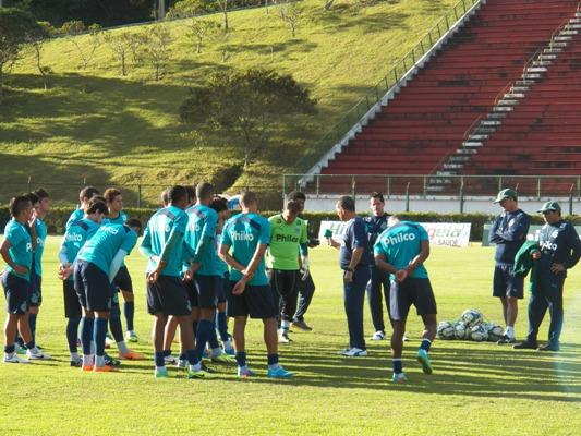 Grupo realizou reconhecimento do gramado do Helenão, palco da partida entre Goiás x Botafogo