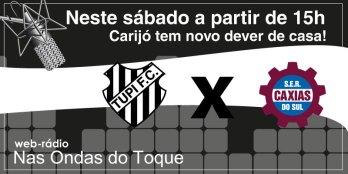 Tupi x Caxias: ingressos estão à venda nos valores de R$20 e R$10