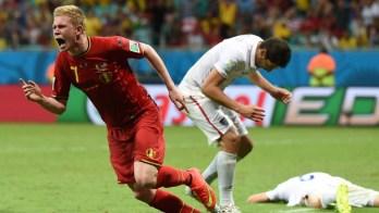 Bélgica bate Estados Unidos na prorrogação e encara Argentina. Copa terá campeão invicto