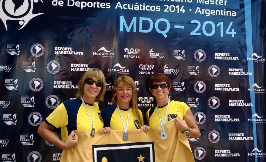 Maria Helena Leal Castro, Denise Barra e Dulce Lessa integraram a equipe master do Bom Pastor em Mar del Plata