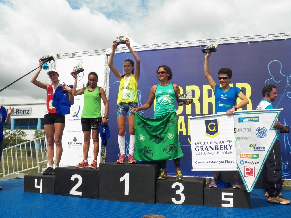 Pódio feminino dos 10km