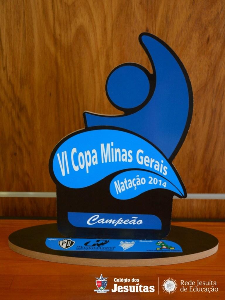 Troféu da Copa MG concedido ao Colégio dos Jesuítas pelo título da competição
