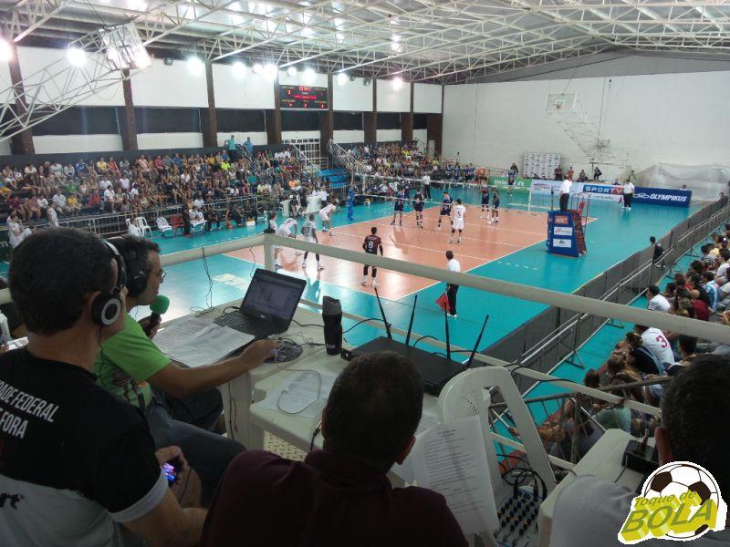 Toque de Bola transmitiu UFJF x Minas, direto do ginásio da Faefid, pela segunda rodada do returno da Superliga masculina 2014/15