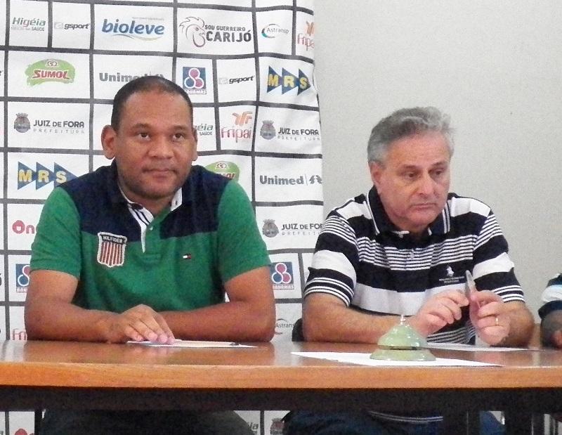 Cloves Santos (esquerda) e Maranhas opinaram ao Toque de Bola sobre a tabela do Mineiro