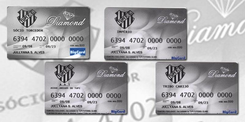 Cartão de crédito poderá ser personalizado com nomes de torcidas